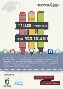 CARTEL TALLER redes sociales